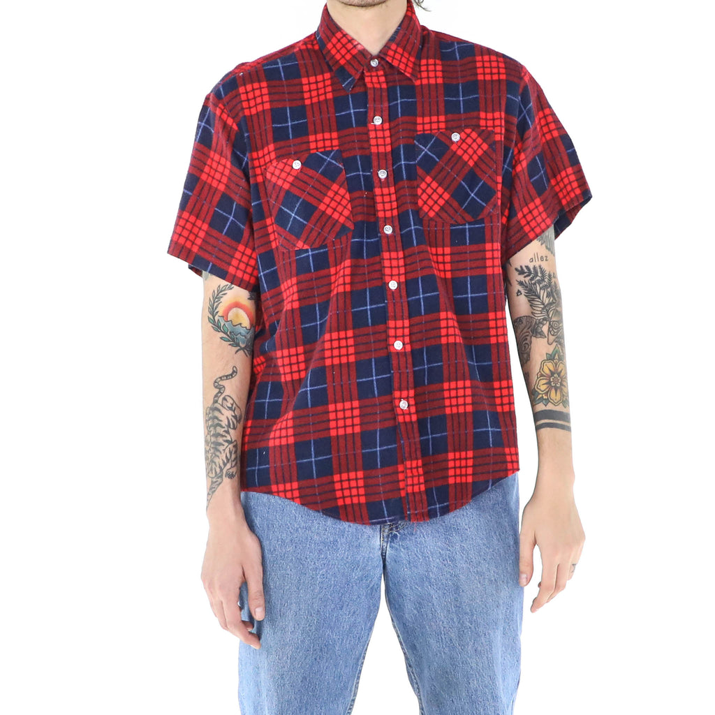 Plaid Short Sleeve Flannel