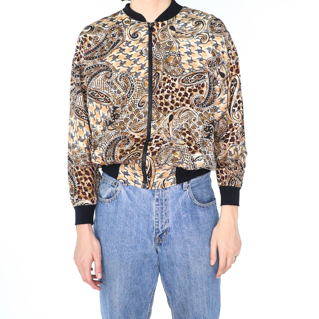 Brown Paisley Bomber