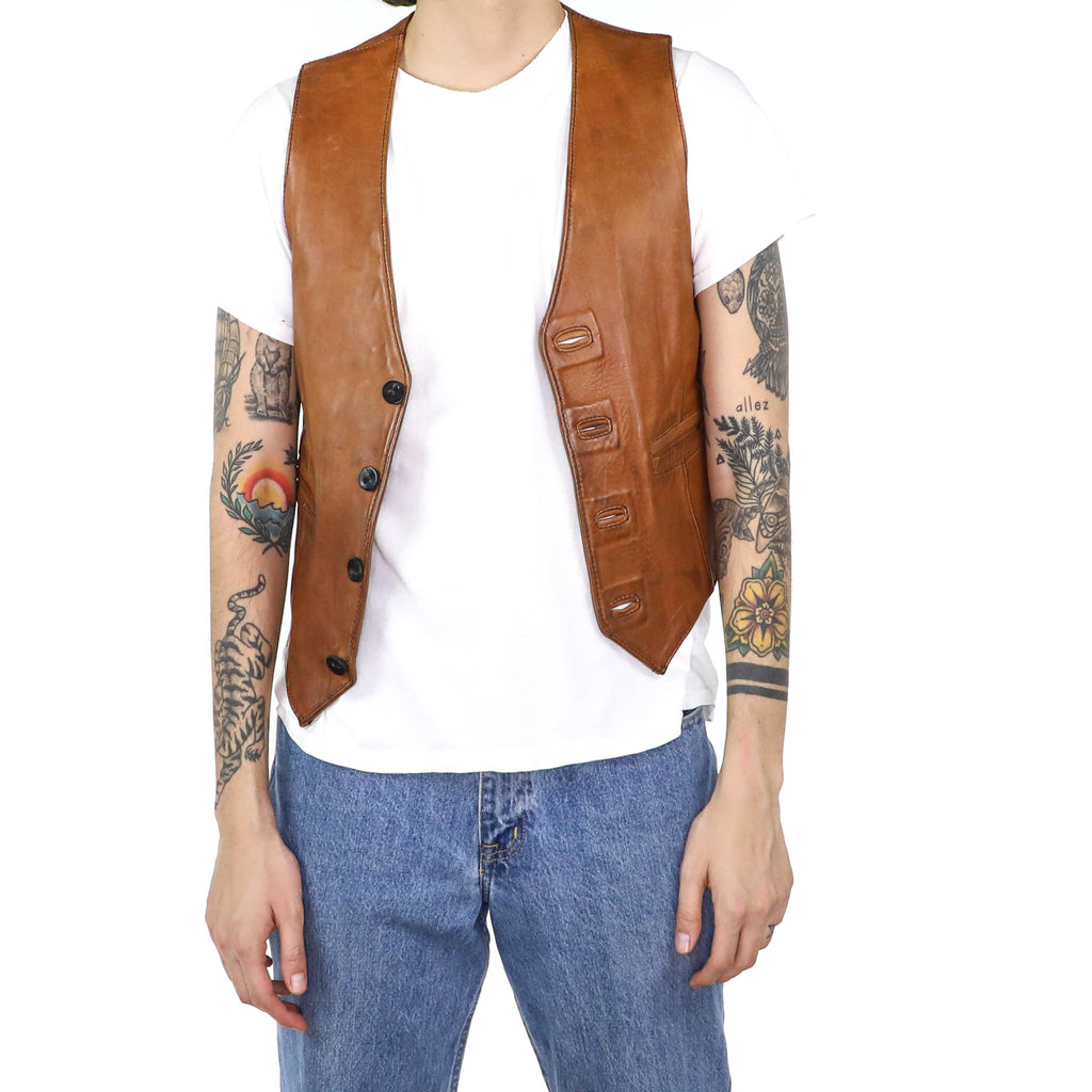 Caramel Leather Vest