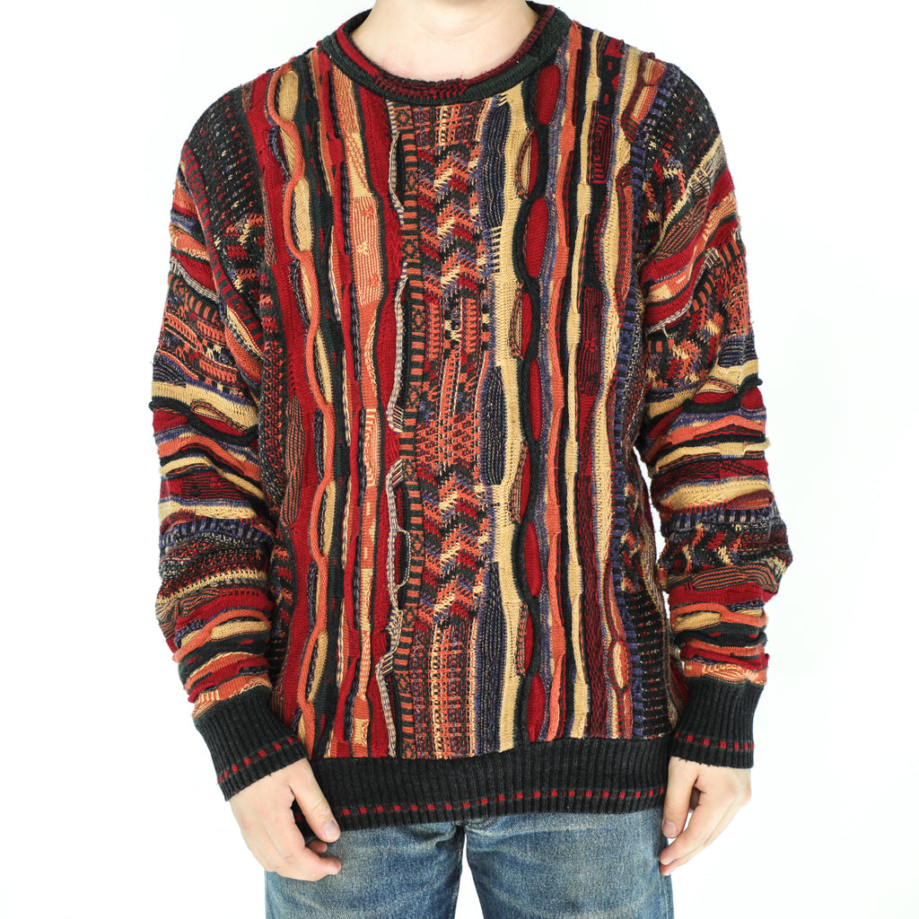 Multicolor Acrylic Crew Neck Sweater