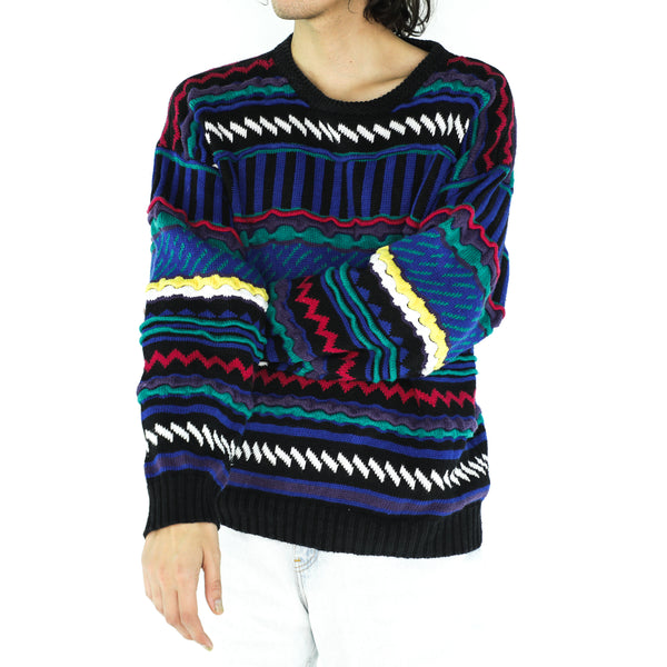 Multicolor Acrylic 80's Sweater