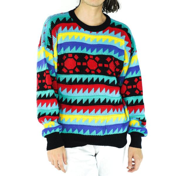 Colorful Acrylic 70's Sweater