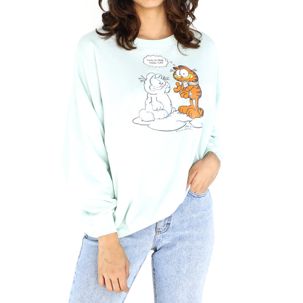 Baby Blue Cotton Sweatshirt