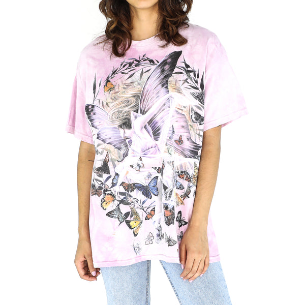 Lilac Graphic Fairy Tie Dye Tee