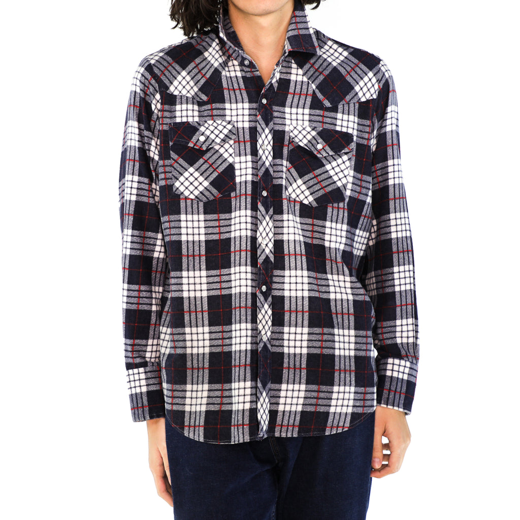 Anchor Gray & Red Plaid Flannel