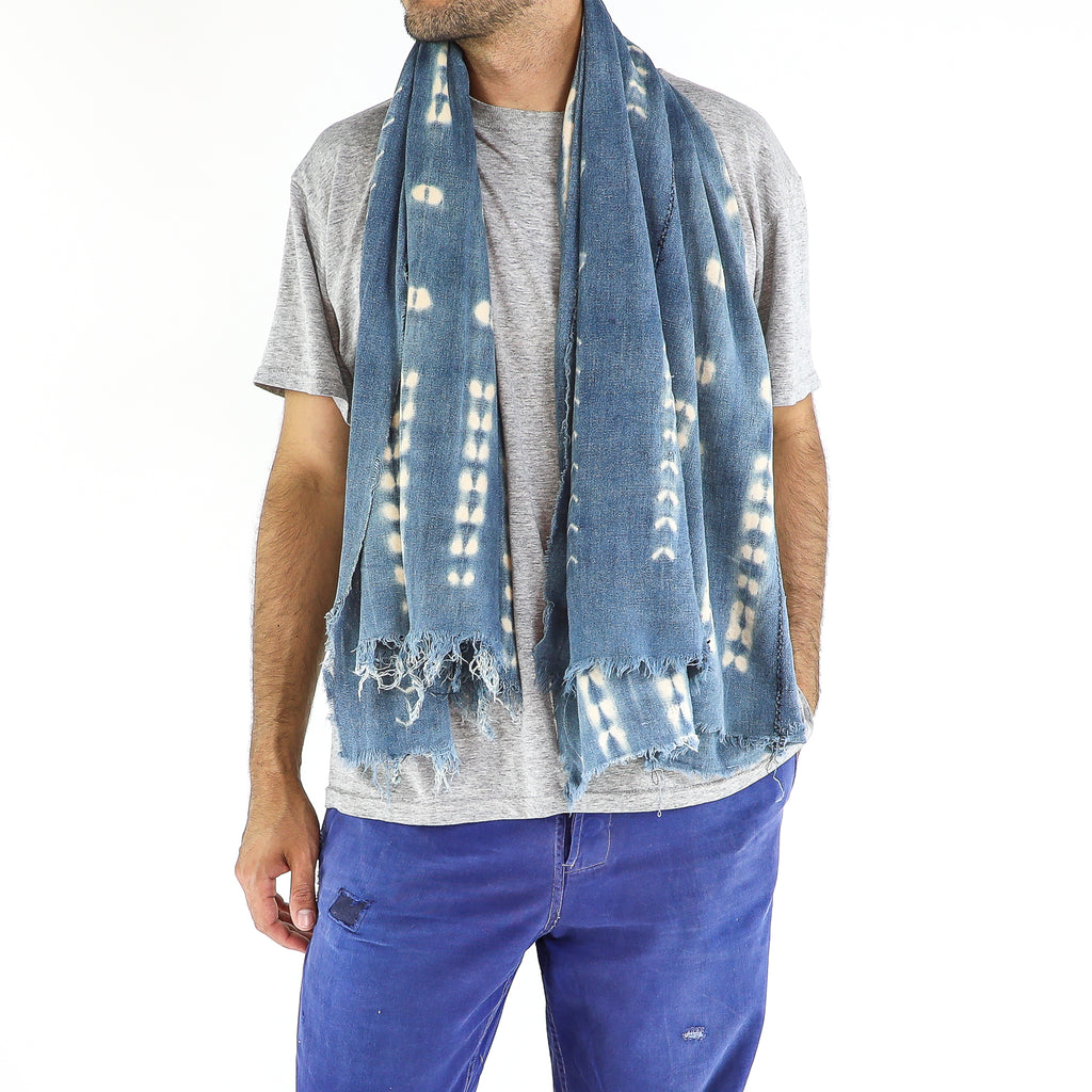 Baby Blue & White Scarf