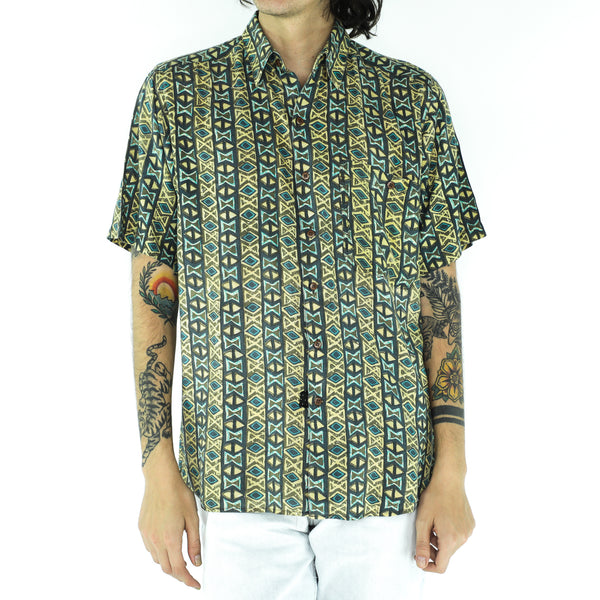 Aquamarine & Emerald Rayon Shirt