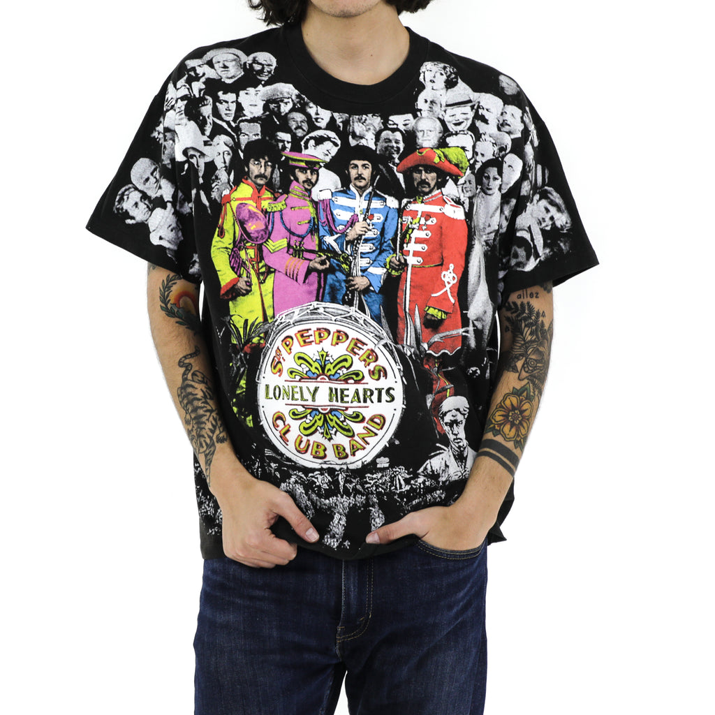 THE BEATLES Sgt. Pepper's Lonely Hearts Club Band All Over print vintage T-Shirt