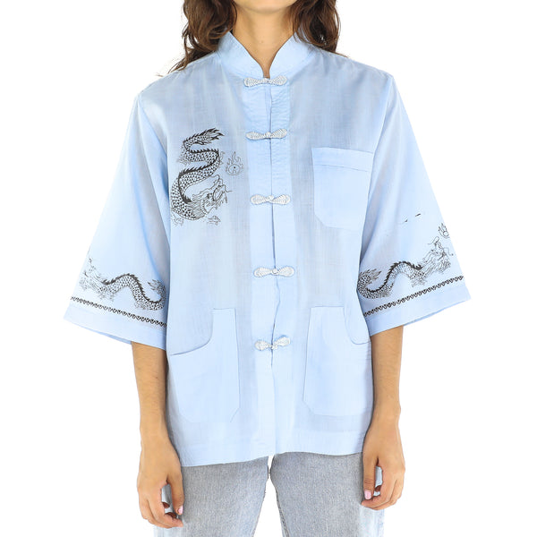 Asia Baby Blue Blouse