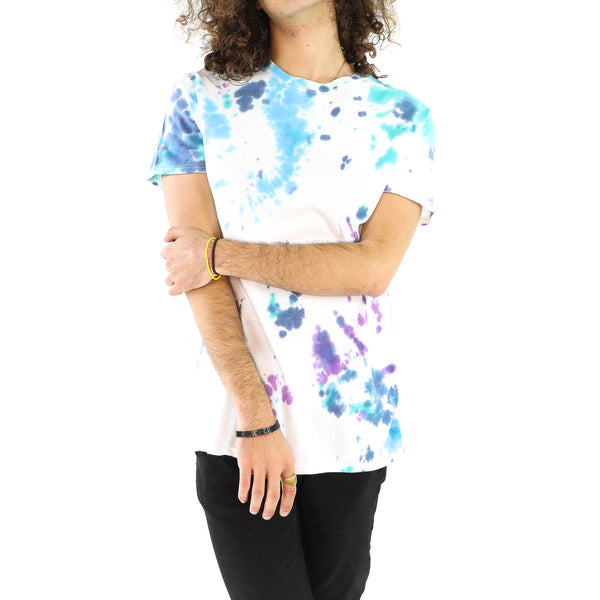 Purple & Cyan Tie Dye Stains T-Shirt