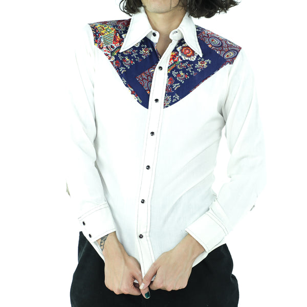 Bandana Patchwork Cotton 70's Shirt