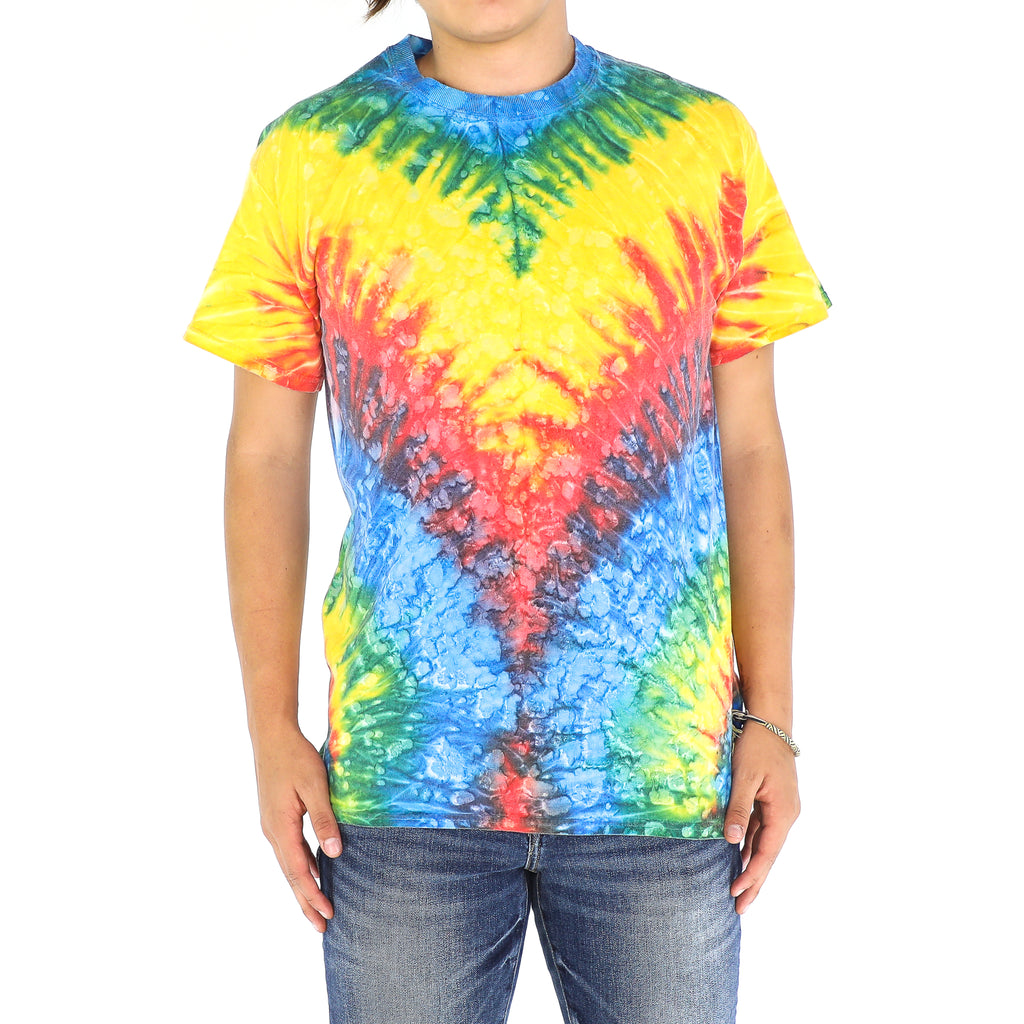Red, Green, Blue & Yellow Tie Dye Cotton Vintage T-shirt