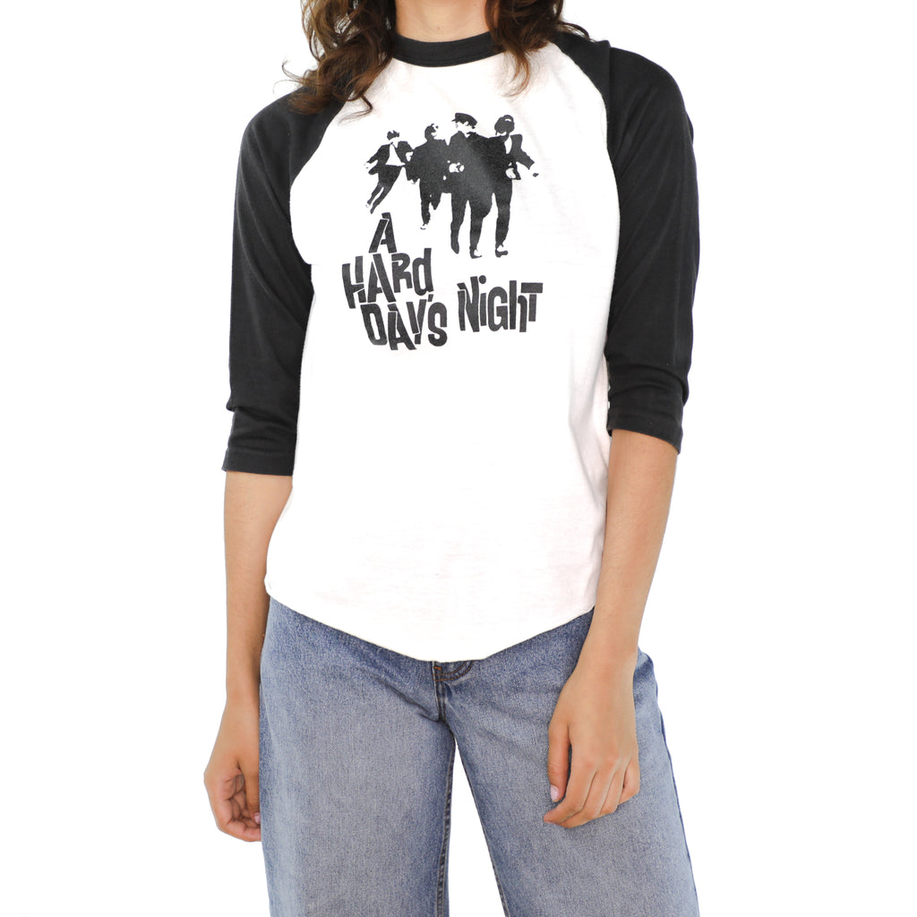 A Hard Day's Night Black & White Cotton T-shirt