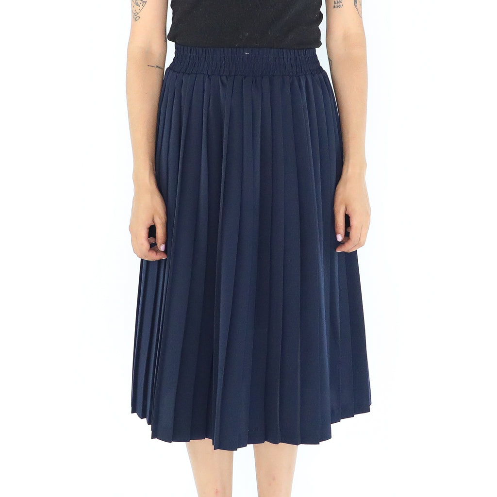Navy Blue 60's Accordion Skirt