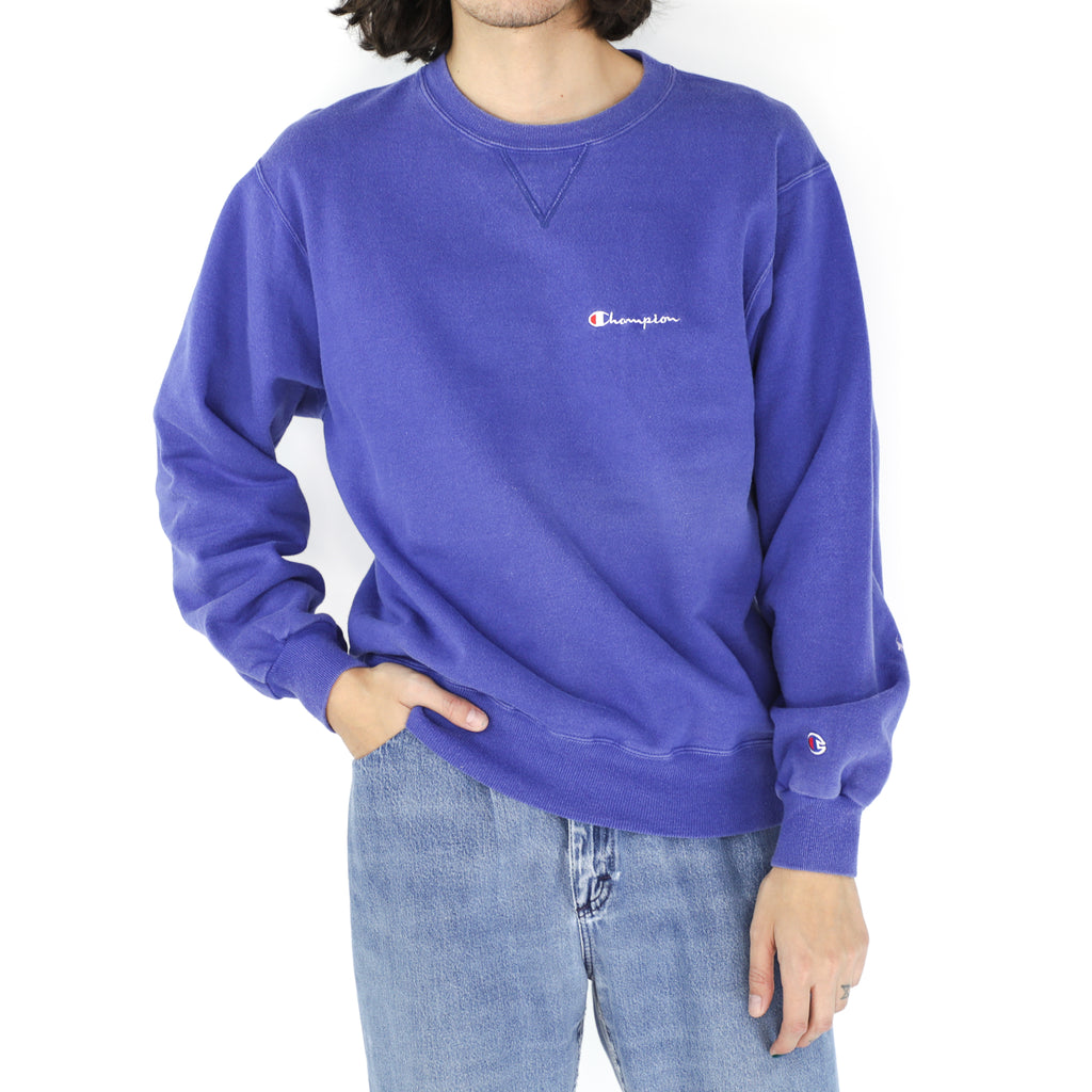 Blue Champion Cotton Crewneck