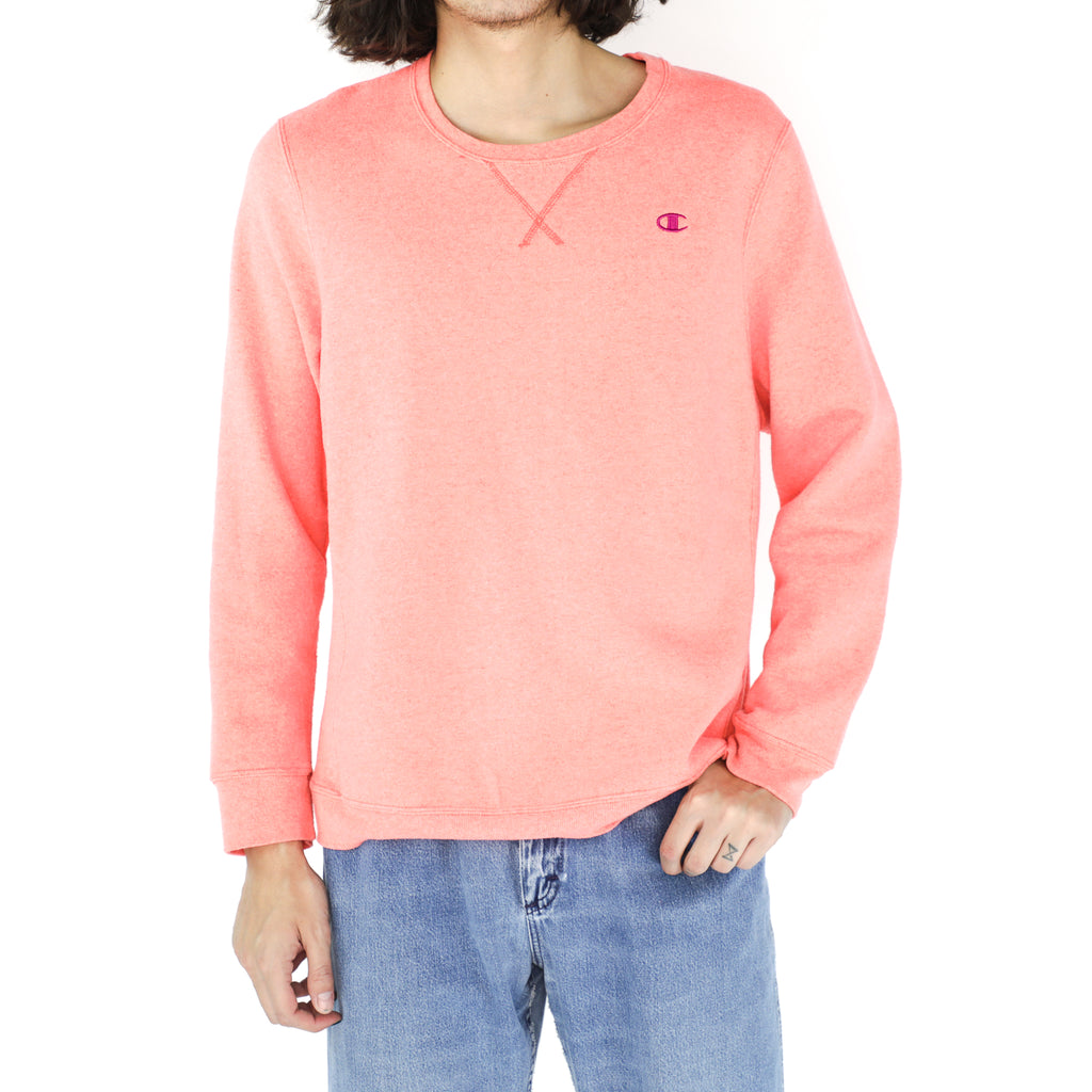 Salmon Champion Cotton Crewneck Sweatshirt