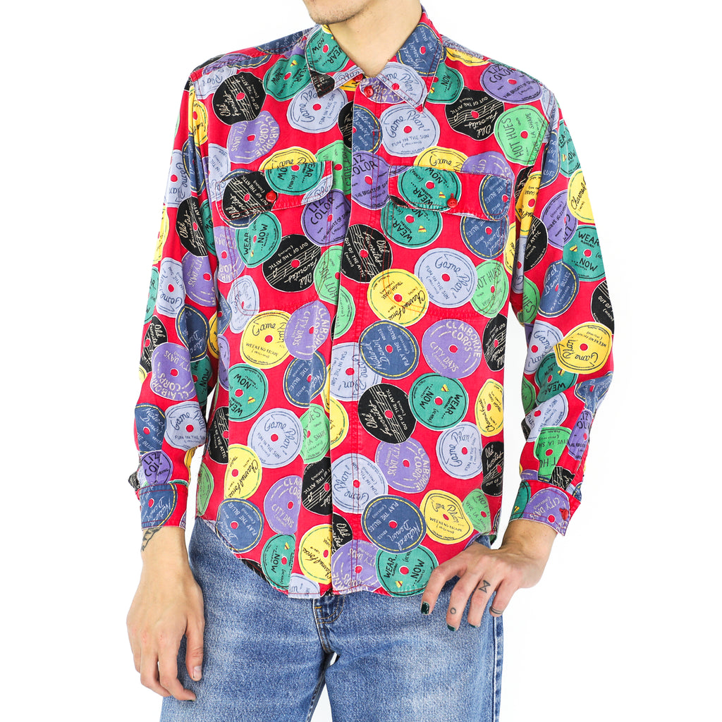 Raspberry Records Rayon Shirt