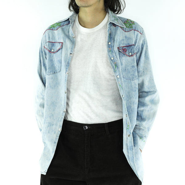Denim Country Long Sleeve Shirt