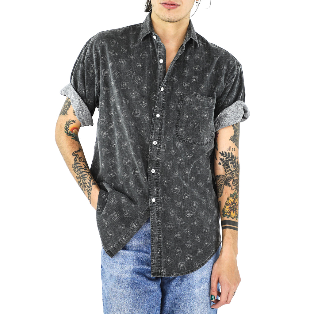 Iron Gray Constellations Cotton Shirt