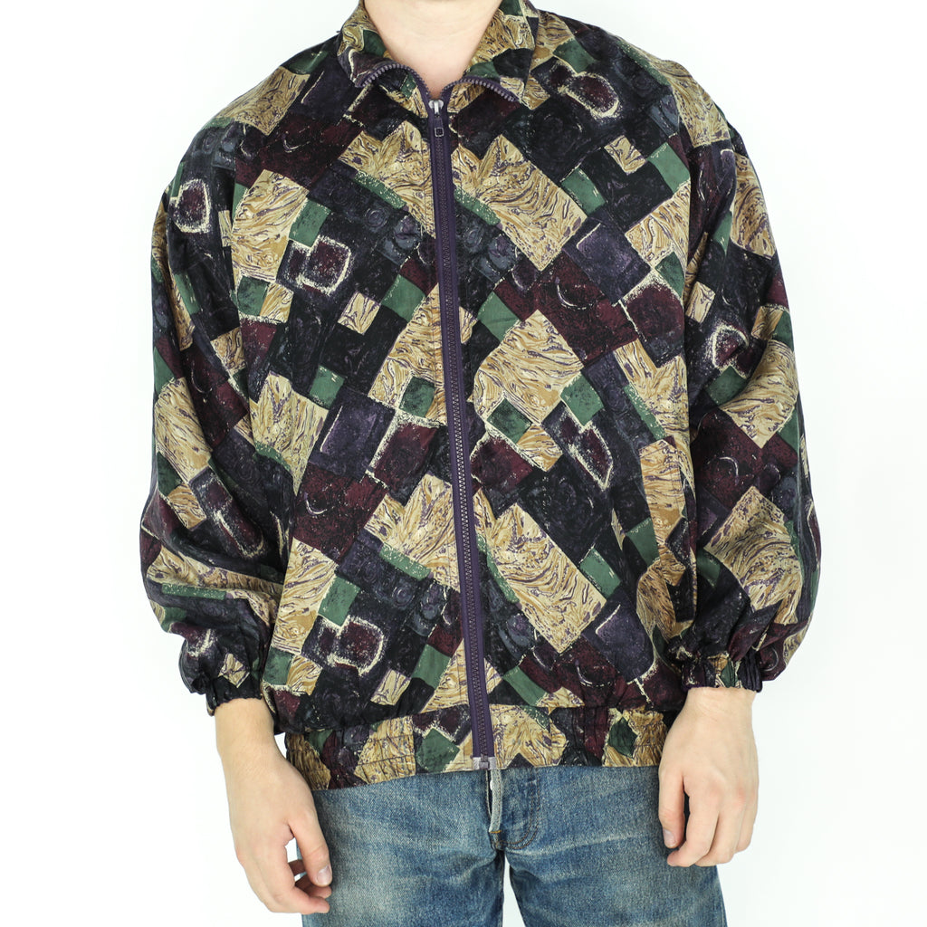 Multicolor Vintage Silk Bomber Jacket