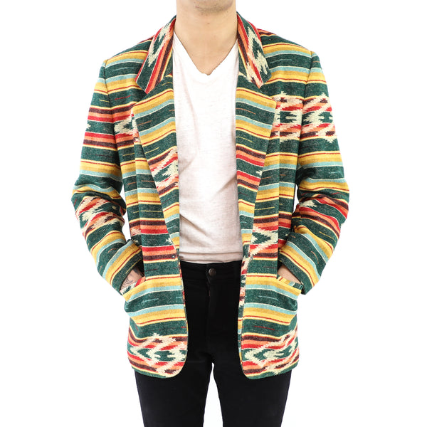 Colorful Wool Navajo Pattern Blazer