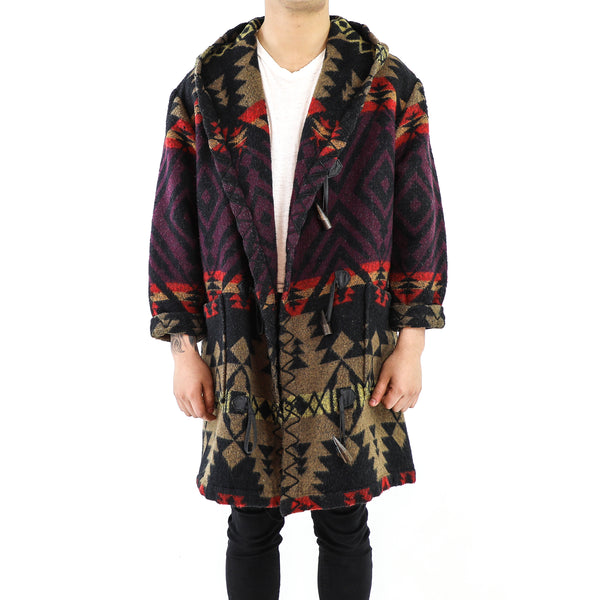 Halloween Wool Navajo Pattern Parka