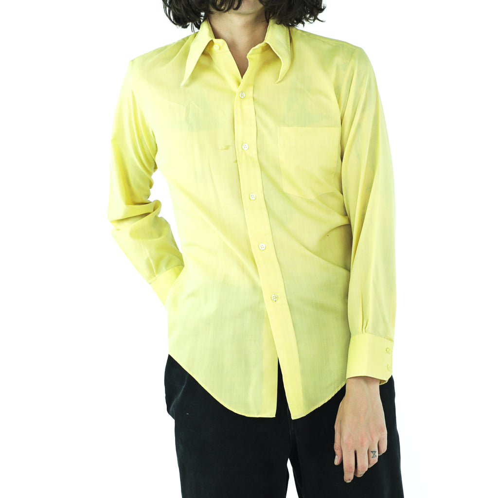 Lemon Yellow 70's Shirt