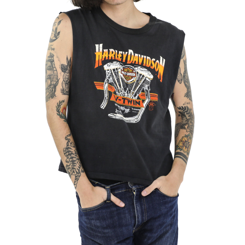 Harley-Davidson - 50th Anniversary Beach Rally 1990 Vintage Muscle Tee