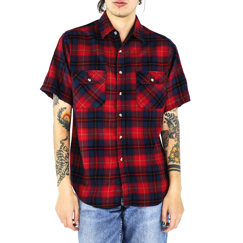 Imperial Red, Space Blue & Byzantine Violet Plaid Shirt