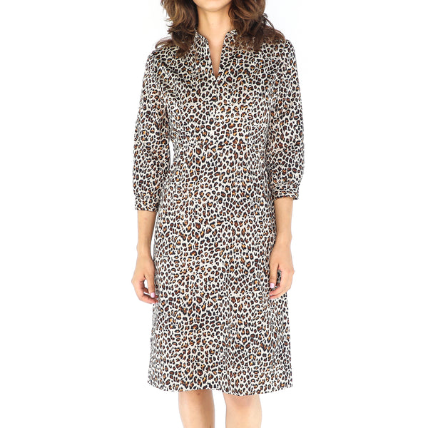 Leopard Print 60's Cotton Dress
