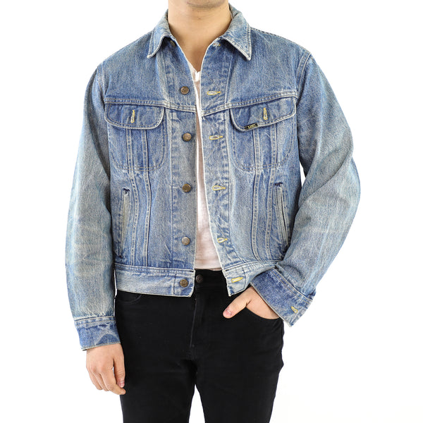 Blue With Little Yellow Seams Vintage Lee Denim Jacket
