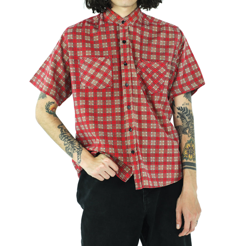 Scarlet Egg Nog Yellow Tartan Cotton Shirt