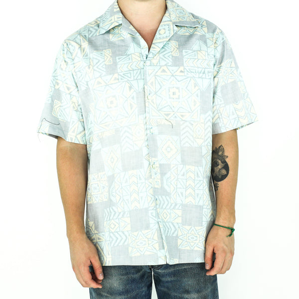 Wash Out Aztec Cotton Shirt