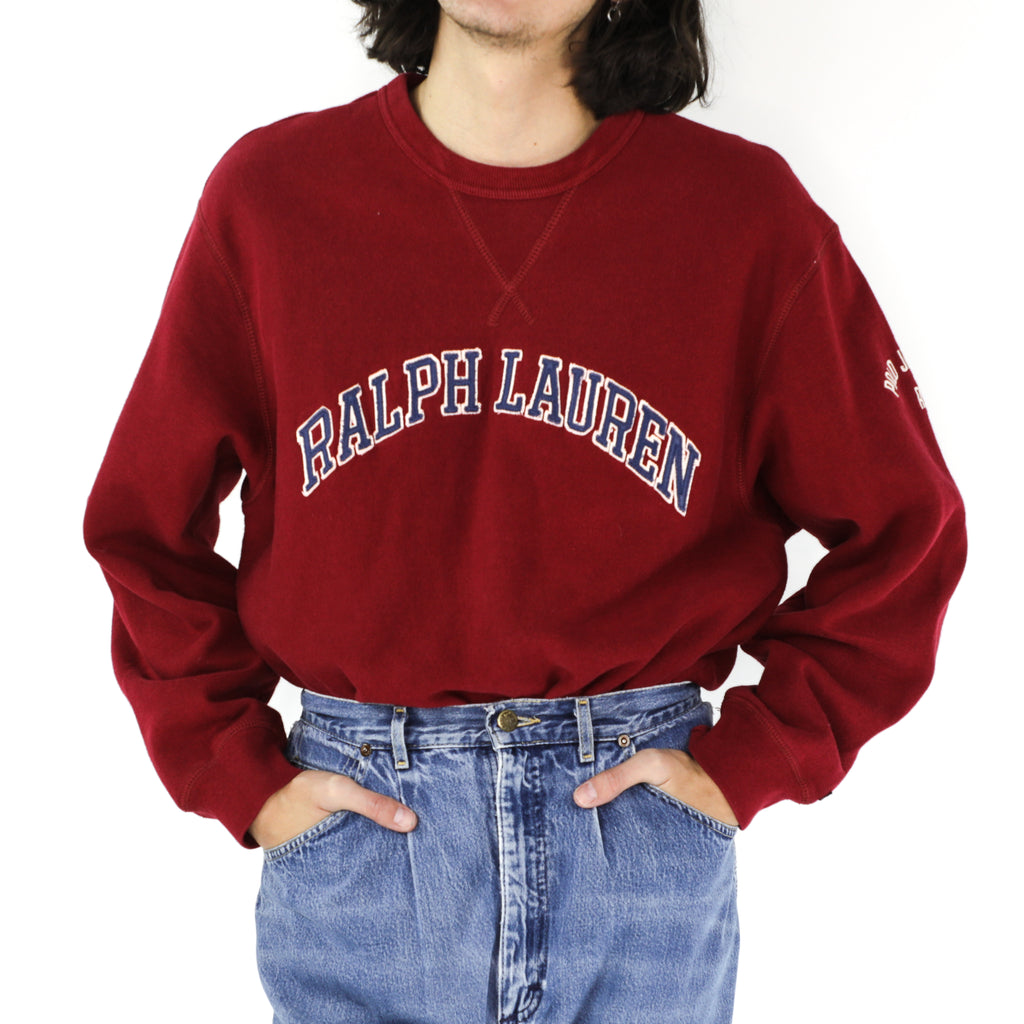 Ralph Lauren Maroon Cotton Sweatshirt