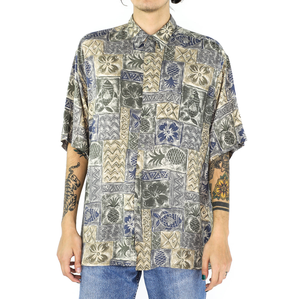 Hawaiian Tiles Rayon Shirt