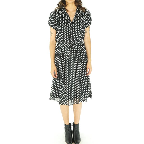 Black Lattice Pattern Dress