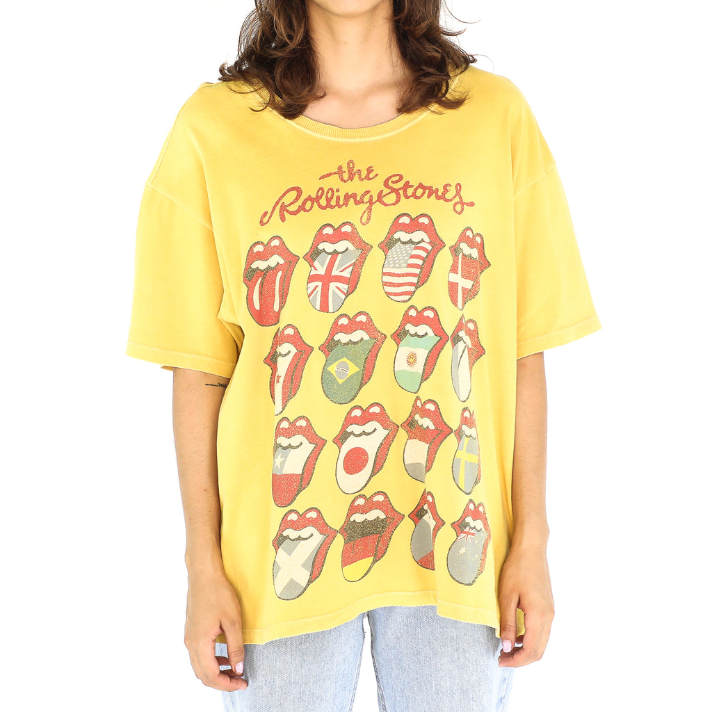 The Rolling Stones Yellow Vintage T-Shirt