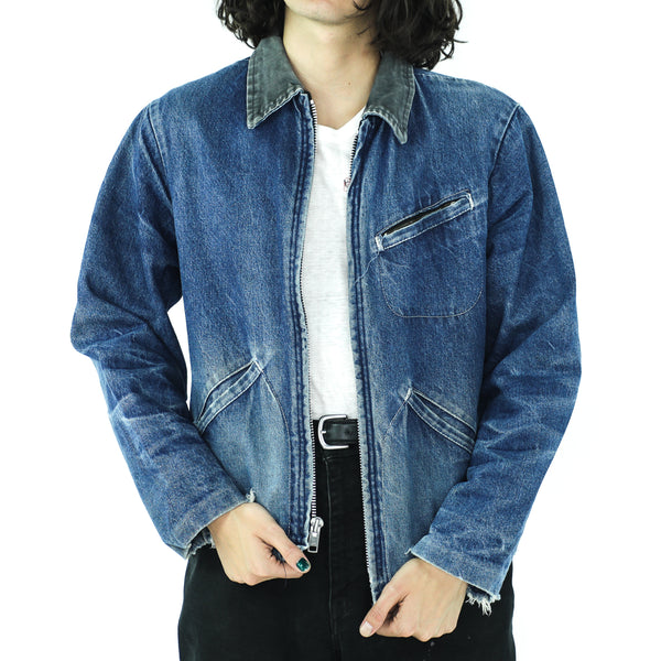 Denim Corduroy Collar Vintage Jacket