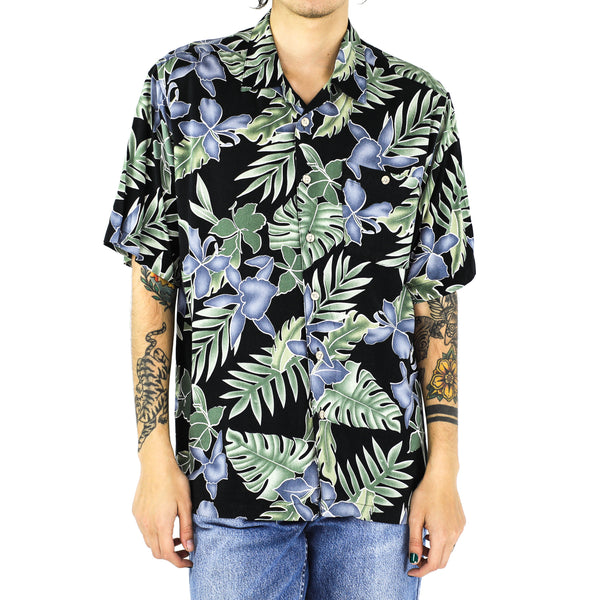 Jade Jungle Black Rayon Shirt