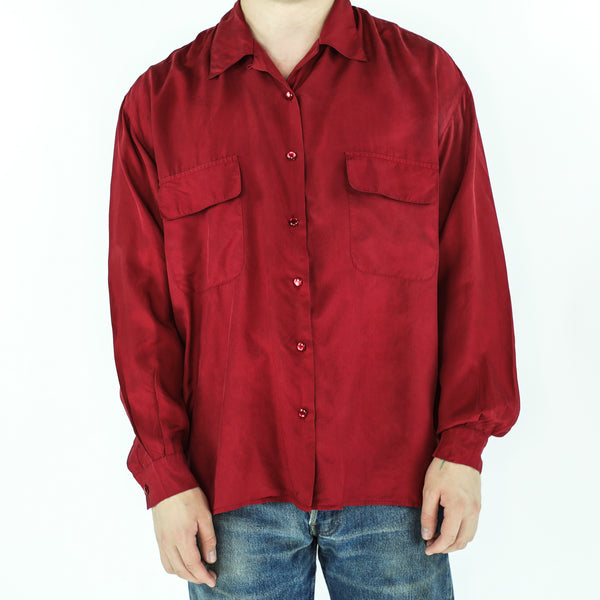 Red 90's Long Sleeve Shirt