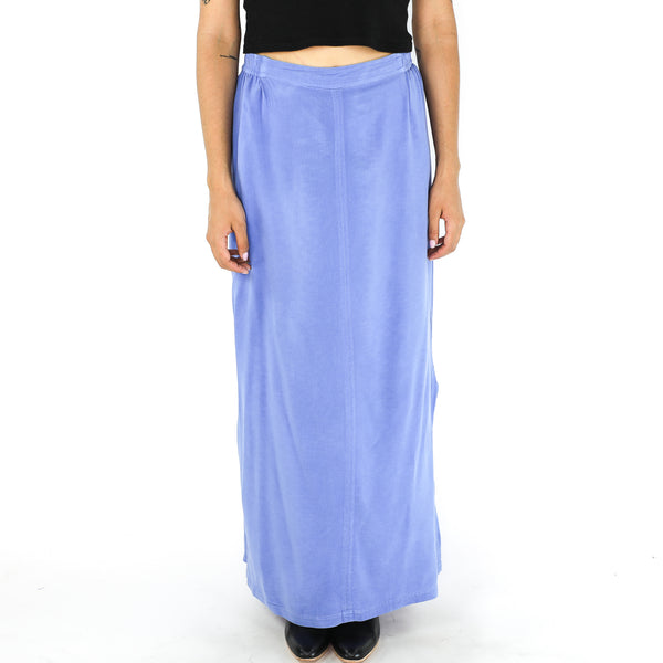 Cornflower Blue Rayon 70's Skirt