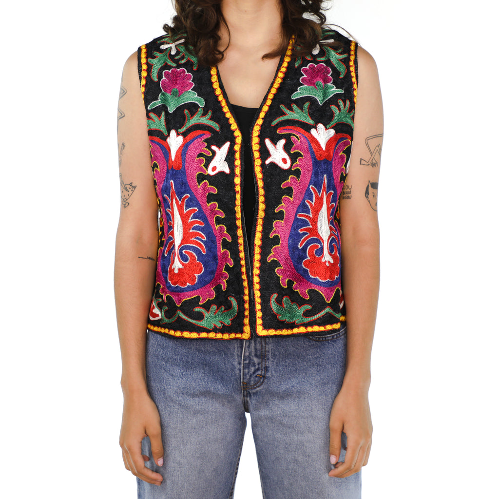 Colorful Cotton Abstract Vest