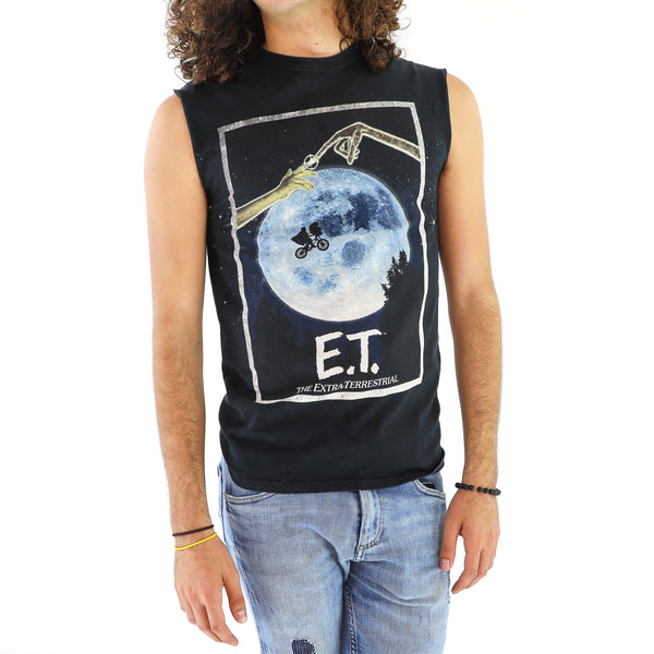 E.T. Black Cotton T-Shirt
