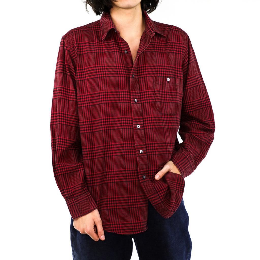 Sangria Cotton Argyle Flannel Shirt