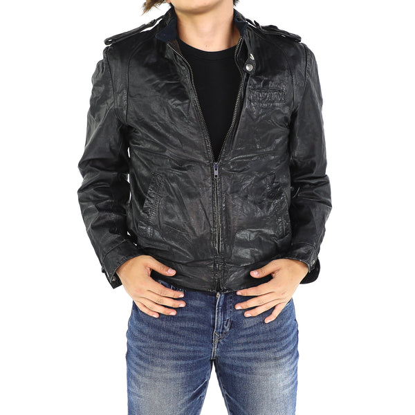 Grease Black Vintage Leather Jacket