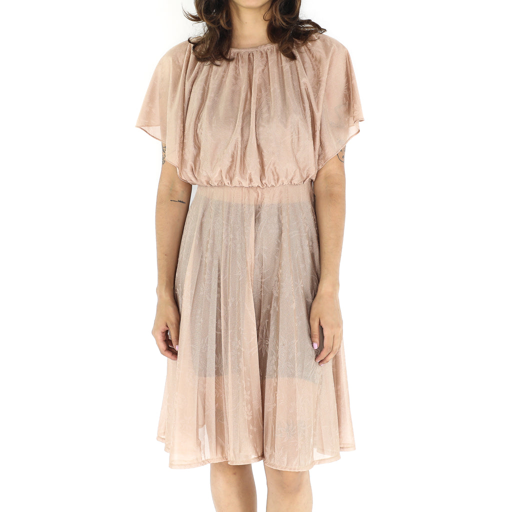 Desert Sand Princess Pleated Dress