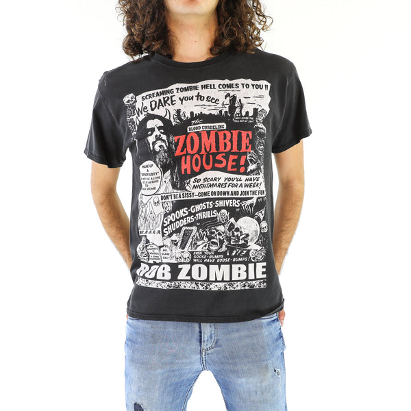 Black & Red Rob Zombie Cotton T-Shirt