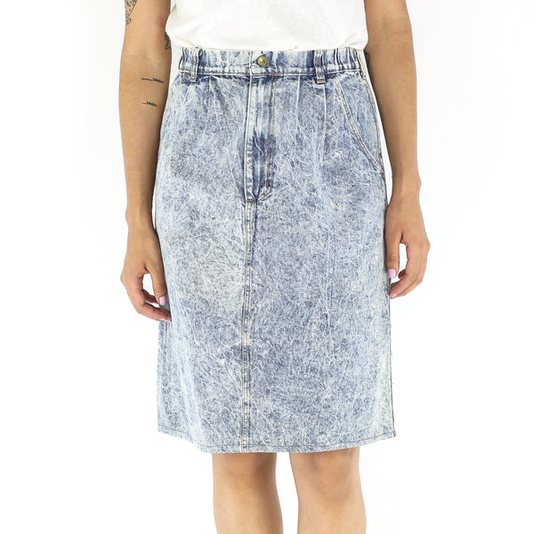Denim Wash Out 90's Skirt