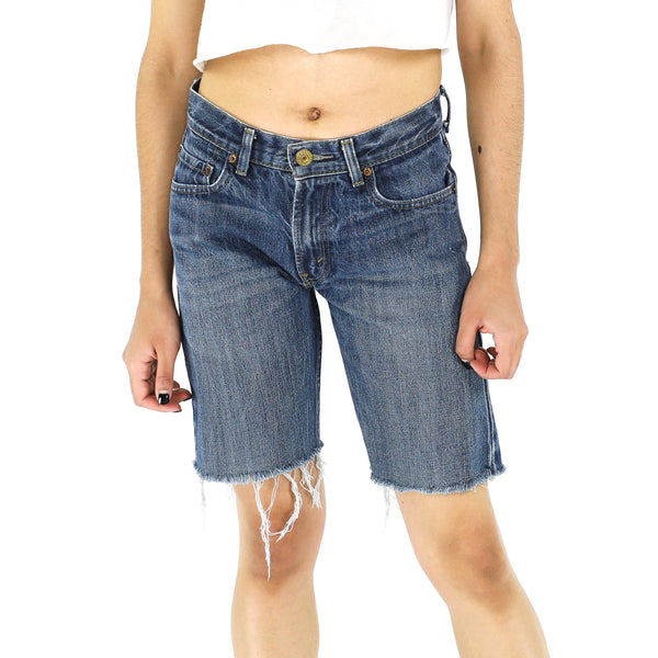 Deep Blue Bermuda Shorts