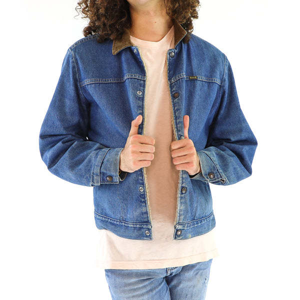 Cobalt Blue & Olive Denim Jacket